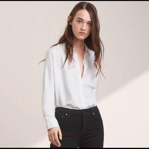 Aritzia talula white button down basic shirt